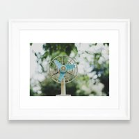 Vintage Fan Framed Art Print