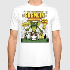 The Mischievous Gremlin Mens Fitted Tee White SMALL