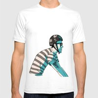 MIKE'S BIKE Mens Fitted Tee White SMALL