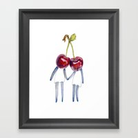 Sweet Pair Framed Art Print