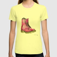 Dr Martens Womens Fitted Tee Lemon SMALL