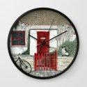 Red Door Cottage Wall Clock