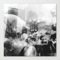 Union Square Pillow Fight Canvas Print