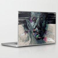 horror Laptop & iPad Skins featuring HORROR VACUI by Aleksander Rostov