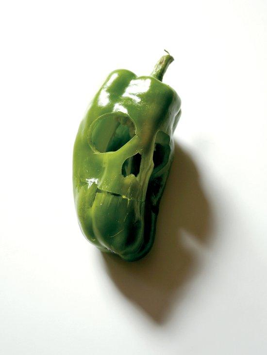 87. Bell Pepper Skull Art Print