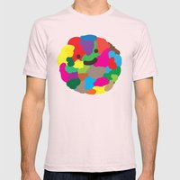 happy colour ball Mens Fitted Tee Light Pink SMALL