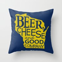 Blue And Gold Beer, Chee… Throw Pillow