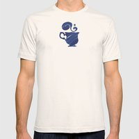 Herbal Tea, Blue on Blue Mens Fitted Tee Natural SMALL