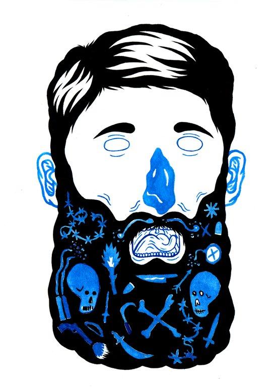 Pirate Beard Art Print