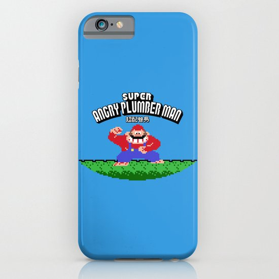Super Angry Plumber Man iPhone & iPod Case
