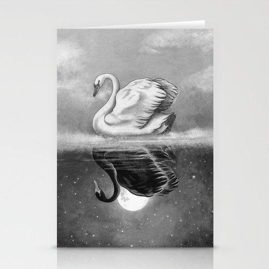 Dark Mirror  Stationery Card