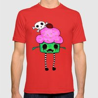 Zombie Cuppy Wants Your Brainz Mens Fitted Tee Red SMALL