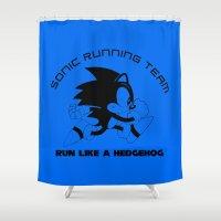 Run like a hedgehog Shower Curtain