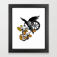Raven And Ginkgo - Autum… Framed Art Print