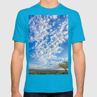 Morning Sky Mens Fitted Tee Teal SMALL