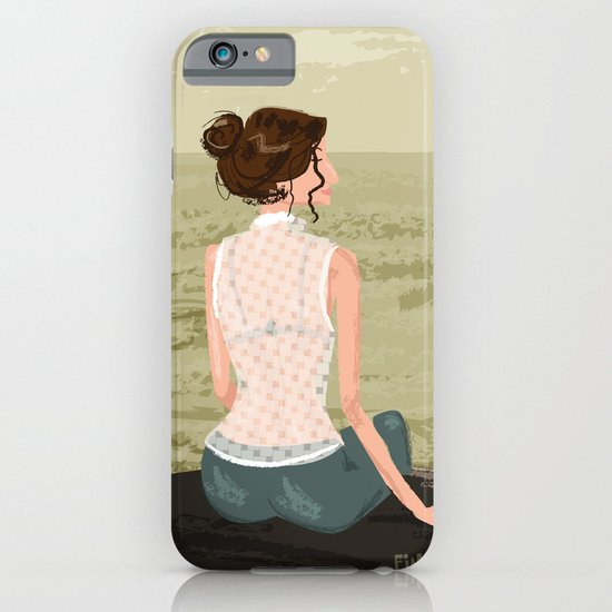 Girl by the Sea iPhone & iPod Case