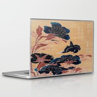 japanese Laptop & iPad Skins featuring japanese flowers by PureVintageLove
