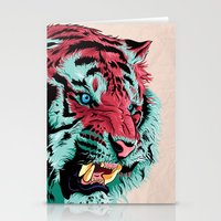 tiger Stationery Cards featuring Tiger by Roland Banrevi
