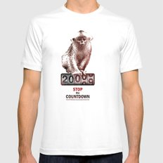 Save Golden Monkeys White Mens Fitted Tee SMALL