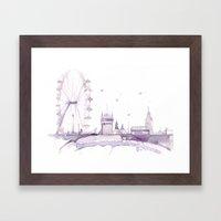 Watercolor Landscape Ill… Framed Art Print