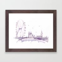 Watercolor Landscape Ill… Framed Art Print