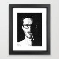 John Frusciante Pointillism Portrait Framed Art Print