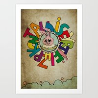 Bunny Obsession Again! Art Print