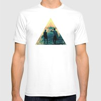 Shape of the ocean Mens Fitted Tee White SMALL