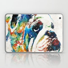Bulldog Pop Art - How Bo… Laptop & iPad Skin