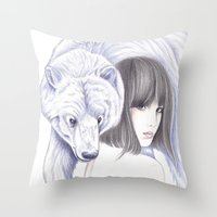 Spirit Bear Throw Pillow