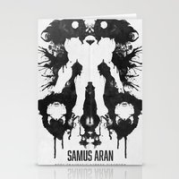 Samus Aran Metroid Geek Psychological Diagnosis Ink Blot  Stationery Cards