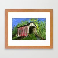 Erwinna Covered Bridge  Framed Art Print
