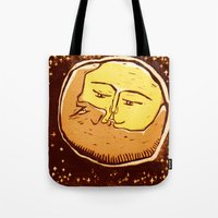 Conjunction moon and planet Tote Bag