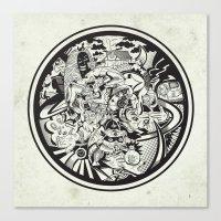 Cicrle Doodle Canvas Print