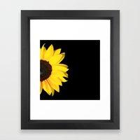 Colored Summer ~ Sunflow… Framed Art Print