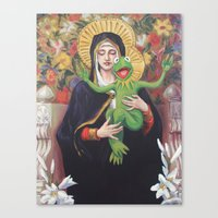 Virgin of the Lily Pad Canvas Print