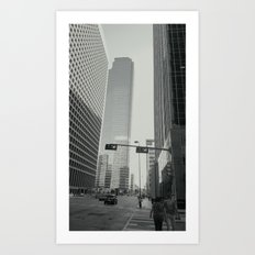 Downtown Dallas Art Print