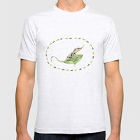 The Horned Anole Mens Fitted Tee Ash Grey SMALL