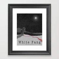 White Fang Framed Art Print