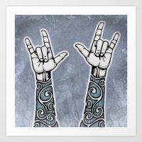 Double Rock Sleeve Art Print