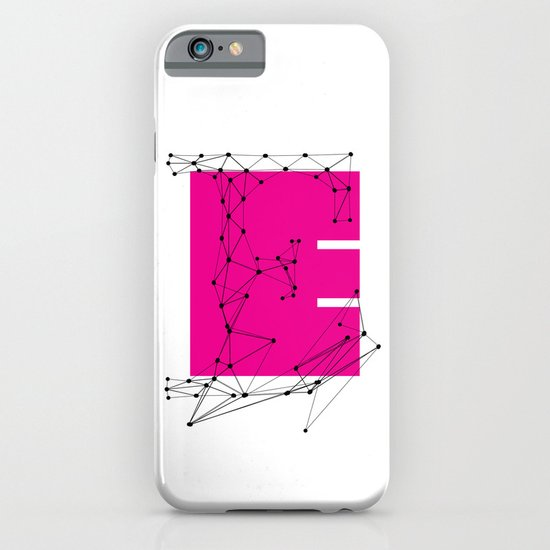 E (abstract geometrical type) iPhone & iPod Case