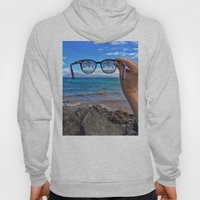 Hawaii Sunglasses Palmtrees Hoody