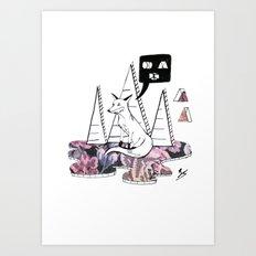 Collage Fox Art Print
