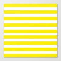 Yellow Lines Canvas Print