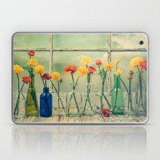 Ranunculus, Bottles and Window Still Life Laptop & iPad Skin