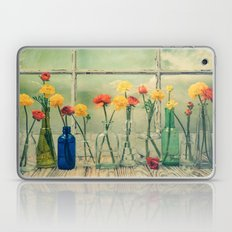 Ranunculus, Bottles and Window Still Life Laptop & iPad Skin