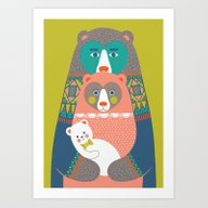 Art Print featuring Baby Bear by Katleuzinger