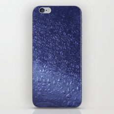 Water Drops Shiny Blue iPhone & iPod Skin