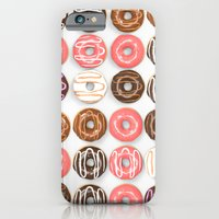 iPhone Cases featuring So Many Donuts by Daniel Delgado
