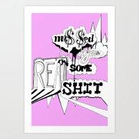 ON SOME REAL SHIT Art Print